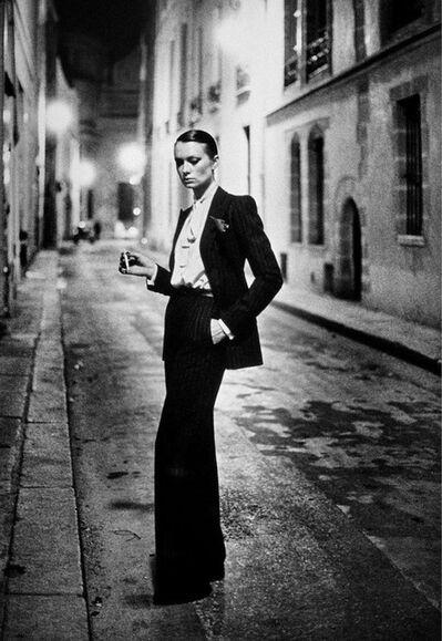 Helmut Newton, 'Rue Aubriot , Parisian Street 1975', 1975