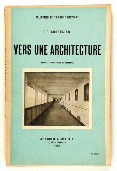 Le Corbusier, 'Vers Une Architecture', 1928