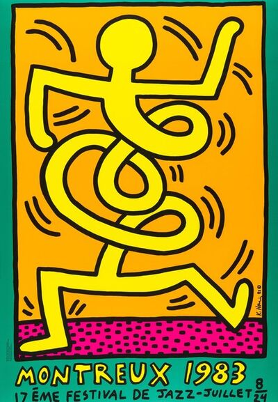 Keith Haring, 'Montreux Jazz Festival ', 1983