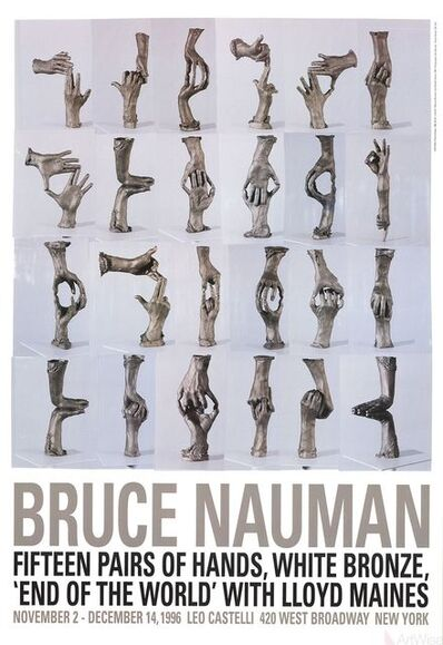 Bruce Nauman, 'Fifteen Pairs of Hands', 1996