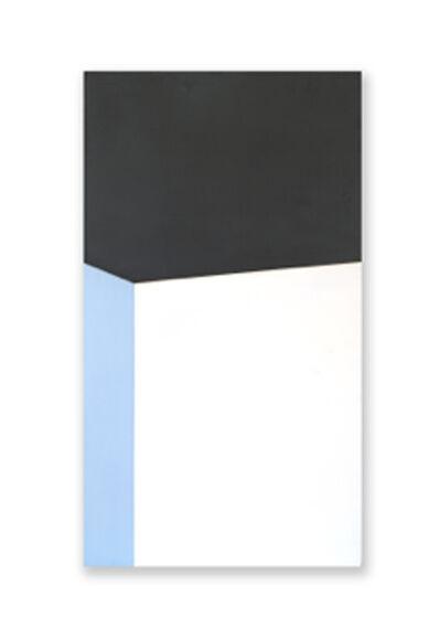 Jeff Kellar, '2 Stacked Blocks Black White Blue '