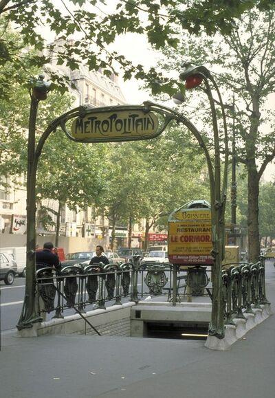 Hector Guimard, 'Paris Metro:  Boissiere station, entrance', ca. 1900