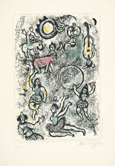 Marc Chagall, 'Les saltimbanques', 1969