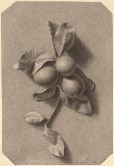 William Michael Harnett, 'A Sprig of Plums', 1873