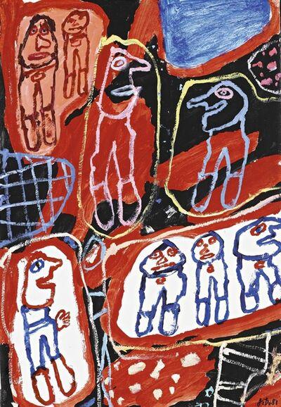 Jean Dubuffet, 'Site avec 8 Personnages'