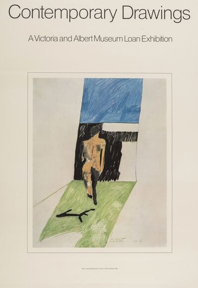 After David Hockney, 'Poster for Contemporary Drawings: A Victoria & Albert Museum Loan Exhibition', 1974