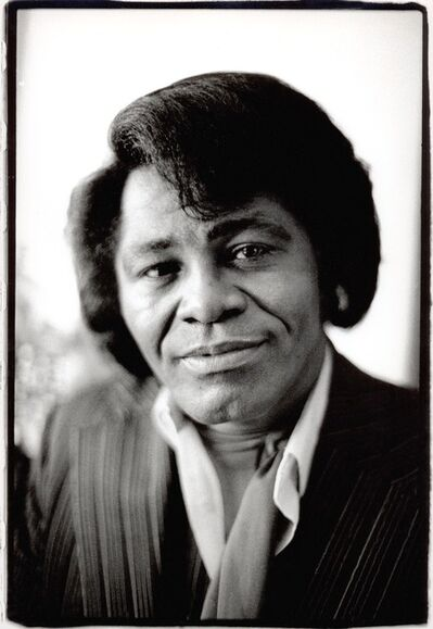 David Corio, 'James Brown, backstage at Hammersmith Odeon, London, UK', 1985