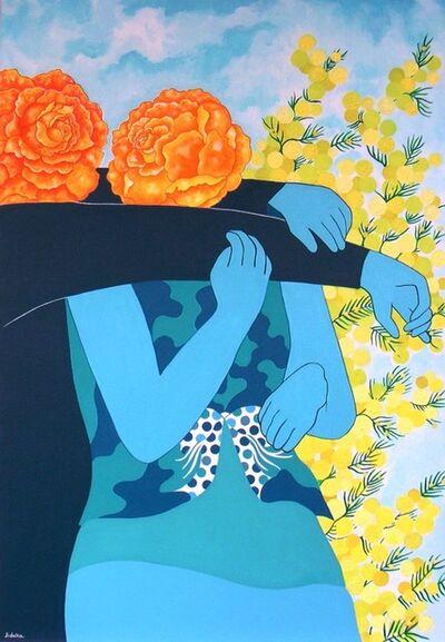 Jocelyne Deschamps-Kus (Jideka), 'Près du mimosa en fleurs (Close to the mimosa)', 2016