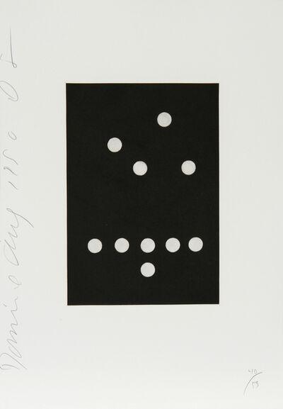 Donald Sultan, 'Dominoes Portfolio -  26', 1990