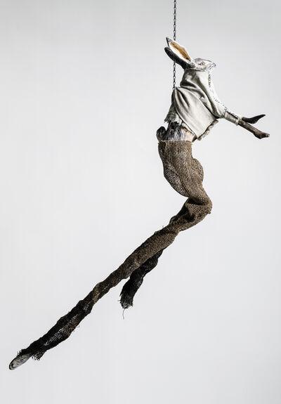 Elizabeth Jordan, 'Sculpture of hare suspended from chain: 'Children 4'', 2020
