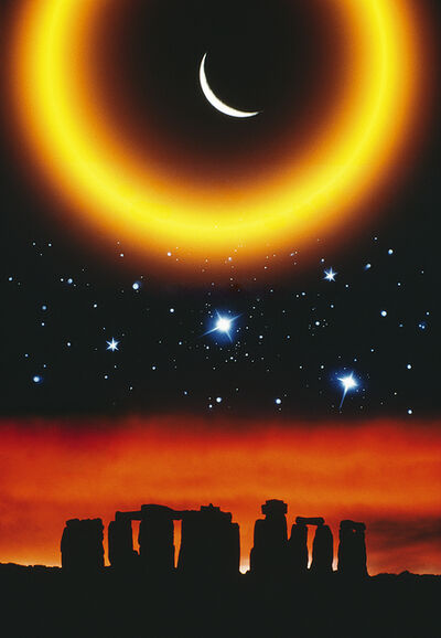 Mitchell Funk, 'Stonehenge with Stars,  Popular Photography Cover', 1982