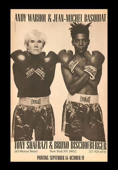 Jean-Michel Basquiat, 'Warhol Basquiat Shafrazi Boxing Advertisement 1985', 1985