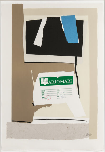 Robert Motherwell, 'America - La France Variations VII', 1984