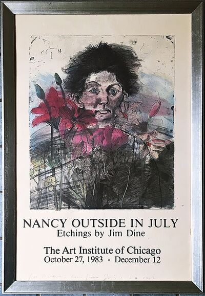 Jim Dine, 'Nancy Outside in July (Inscribed to Doreen)', 1983