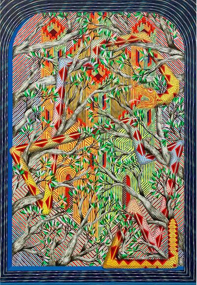 Andrew Schoultz, 'Sanctuary Fortress (Serpent)', 2020