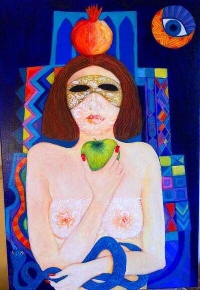 Laila Shawa, 'Goddess with Apple Tripytch', 2016