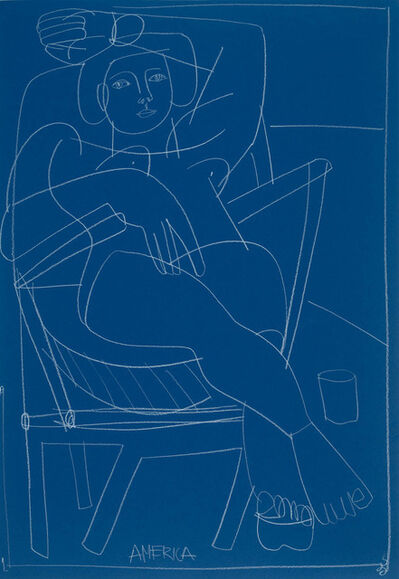 America Martin, 'Woman in Blue Chair', 2019