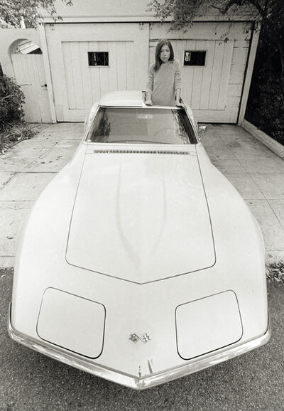 Julian Wasser, 'Joan Didion Standing in Stingray 1968', 1968