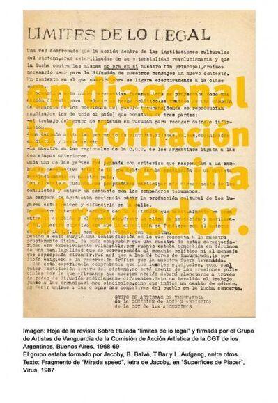 Roberto Jacoby, 'en diagonal la información se disemina', 2008