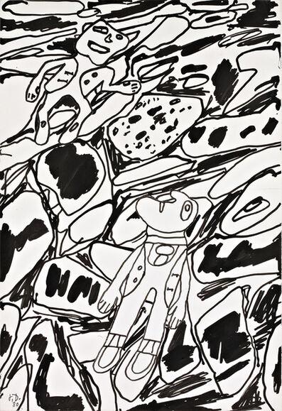 Jean Dubuffet, 'Paysage avec deux personnages', 1980