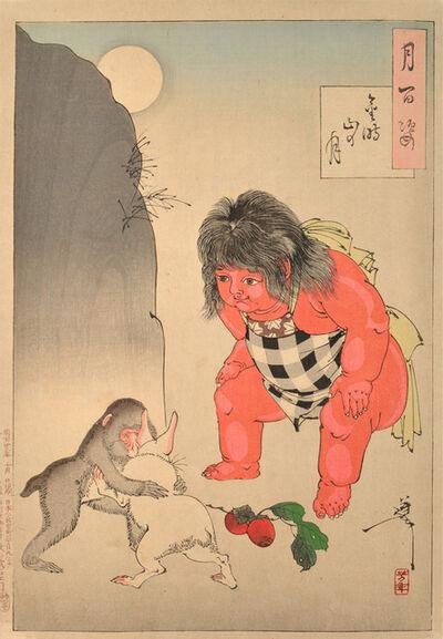 Tsukioka Yoshitoshi, 'Moon of Kintoki's Mountain', 1890