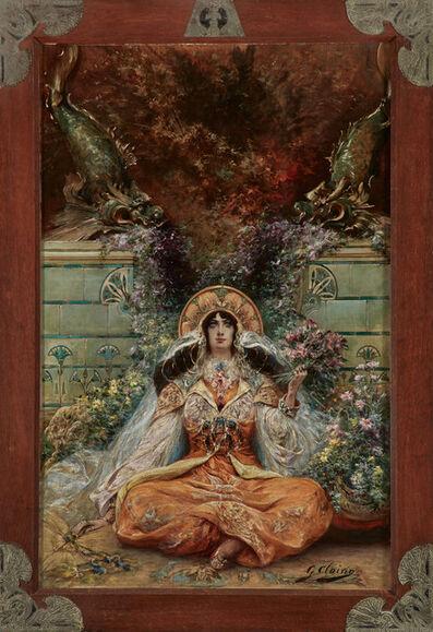 Georges Clairin, 'Sarah Bernhardt in the Role of Izeyl', ca. 1894