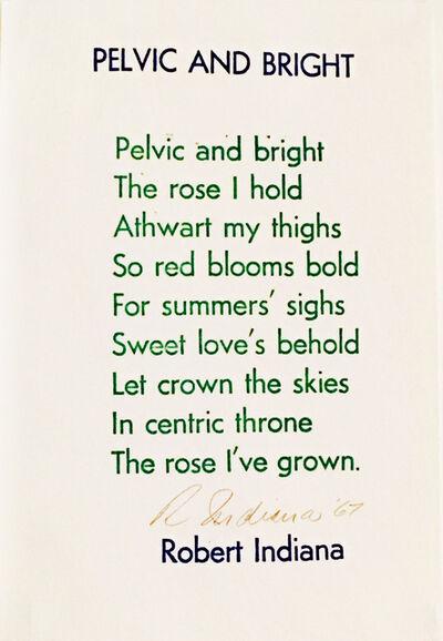 Robert Indiana, 'Pelvic and Bright', 1967