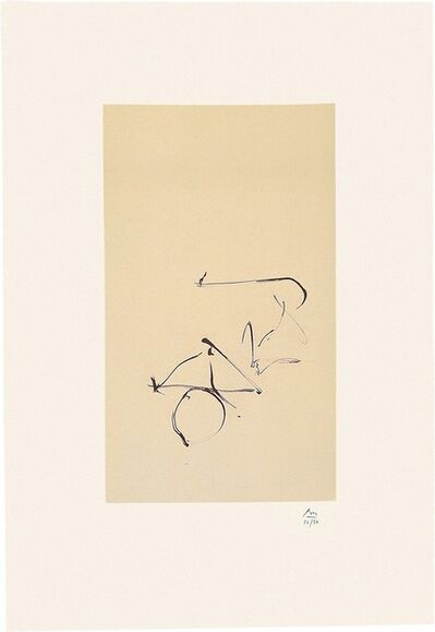 Robert Motherwell, 'Octavio Paz Suite: Return', 1988
