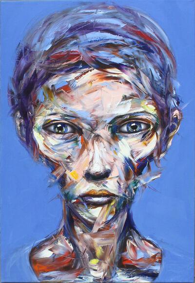 Bader Mahasneh, 'Lady in Blue', 2018