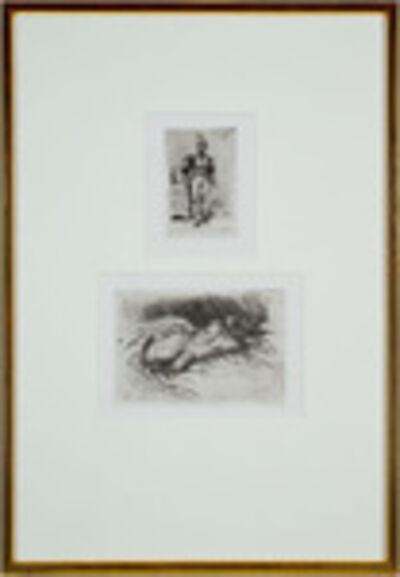 Eugène Delacroix, 'Top: Un Homme D'Arme du Temps de Francois 1er,Bottom: Etude de Femme, Vue de Dos', 1833