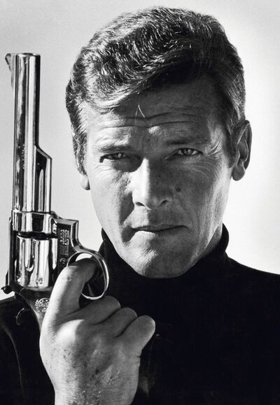 Terry O'Neill, 'Roger Moore as James Bond, co-signed', 1978