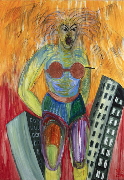 Ursula Reuter Christiansen, 'Leipzig Vulcan Woman, Is this my town? Eine Wunde, Viele Wunden II', 2019