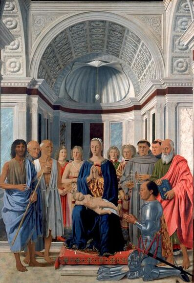 Piero Della Francesca, 'The Montefeltro Altarpiece', 1472-1474