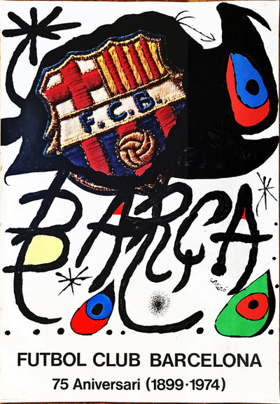 Joan Miró, 'Poster for the 75th Anniversary of the Barcelona Football Club', 1974