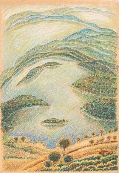 Gerardo Dottori, 'Paesaggio con laghi', 1940