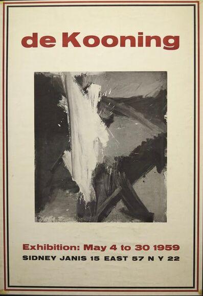 Willem de Kooning, '1959 Exhibition Poster', 1959