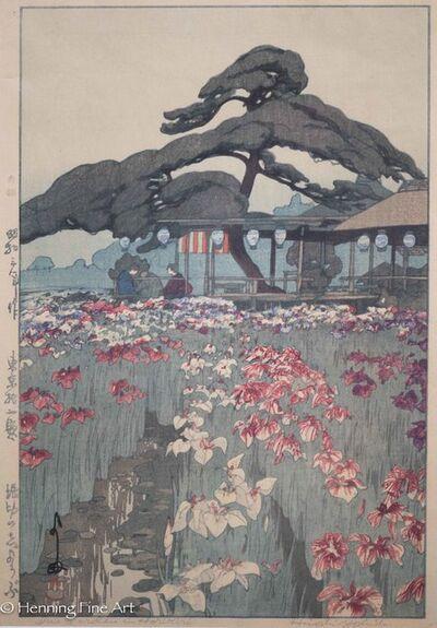 Yoshida Hiroshi, 'Iris Garden in Horikiri', 1928