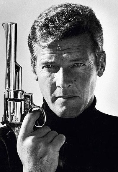 Terry O'Neill, 'Classic portrait of Moore as James Bond, 1970s', ca. 1970