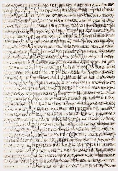 """Fernando Aguiar, '""""Ensaio para uma Nova Expressão da Escrita nº 451"""", 1984'"""