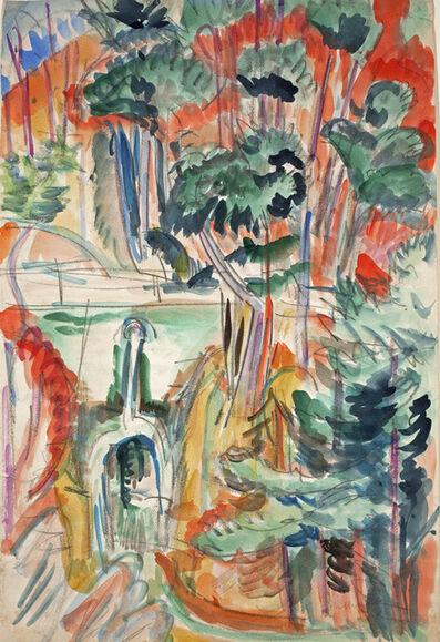 Ernst Ludwig Kirchner, 'Taunuslandschaft mit Brücke (Landscape with Bridge in the Taunus Hills) ', 1916