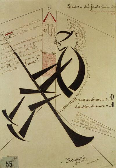 Angelo Rognoni, 'L'attesa del fante (Waiting Sentinel)', 1917