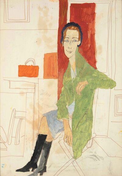 Fulvio Bianconi, 'Figure of sitter dow woman', 1960 ca