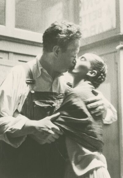 Lucienne Bloch, 'Frida And Diego Caught Kissing ', 1933