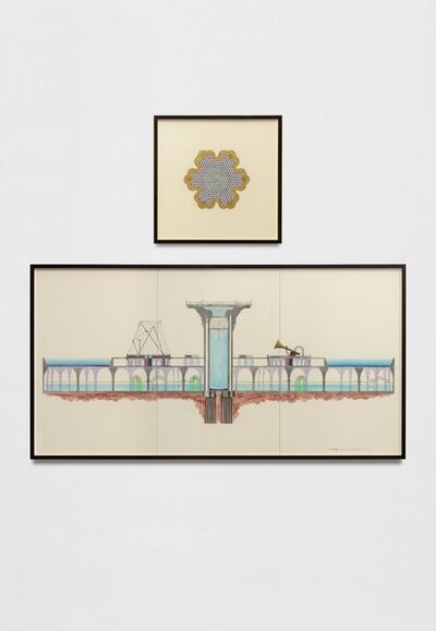 Charles Avery, 'Untitled (Cross section of Onomatopoeia Zoo) (Elevation) | Untitled (Cross section of Onomatopoeia Zoo) (Plan)', 2021