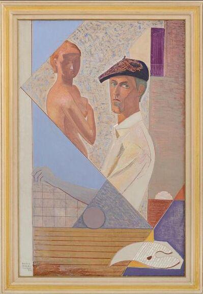 Mario Tozzi, 'Autoritratto con modella', 1961