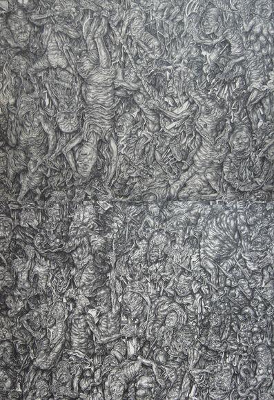 Oscar de Las Flores, 'Self Portrait Descending to the Inferno, Autoretrato Descendiendo a Los Infiernos (1 + 2)', 2013