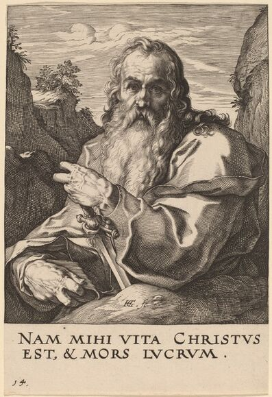 Hendrik Goltzius, 'Saint Paul', probably 1589