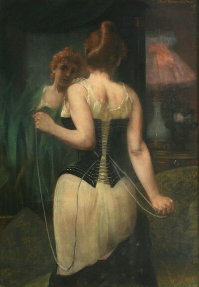 Pierre Carrier-Belleuse, 'Jeune Femme Ajustant son Corset  ', 1893