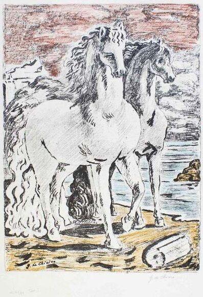 Giorgio de Chirico, 'Ancient Horses', 1966