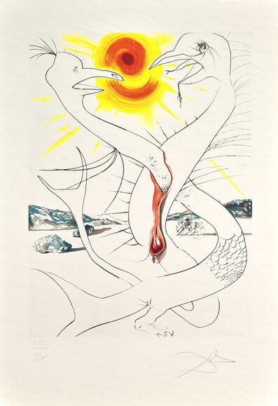 Salvador Dalí, 'The Caduseus of Mars Nourished by Jupiter's Ball of Fire (The Conquest of Cosmos)', 1974